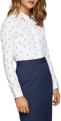 Oxford Angel Stretch George The Cat Shirt