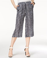Armani Exchange Striped Cropped Pants