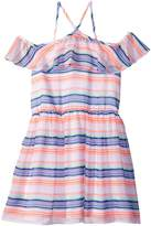 Tommy Hilfiger Printed Multi-Stripe Dress Girl's Dress