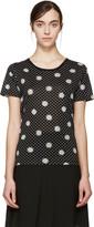 Saint Laurent Black Daisy T-Shirt
