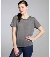 LnA grey and black jersey lace back short sleeve t-shirt