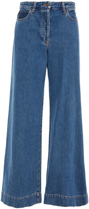 The Row Anat High-rise Wide-leg Jeans