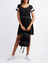 Charlotte Russe Varsity Stripe Sccop Neck Dress