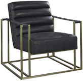 One Kings Lane Jensen Accent Chair - Black Leather