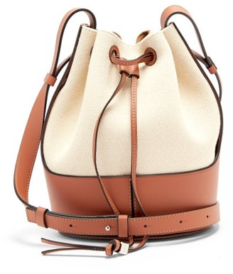 Loewe Balloon Small Canvas And Leather Shoulder Bag - Cream Multi