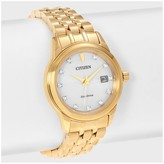 Citizen Women's Diamond EW2392-54A Stainless Steel Diamond Accent Link Bracelet Watch - Gold