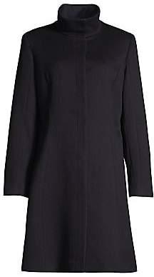 Sofia Cashmere Women's Funnelneck Wool & Cashmere Coat