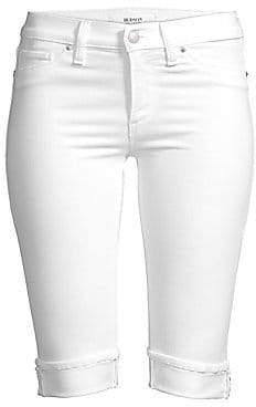 Hudson Jeans Women's Amelia Knee-Length Cuffed Denim Shorts
