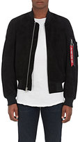 Alpha Industries Men's Suede MA-1 Bomber Jacket