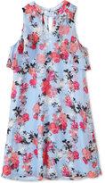 Speechless Floral-Print High-Neck Dress, Big Girls (7-16)