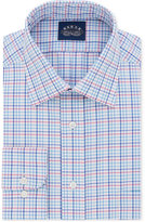 Eagle Men's Classic/Regular Fit Non-Iron Flex Collar Pink Check Dress Shirt
