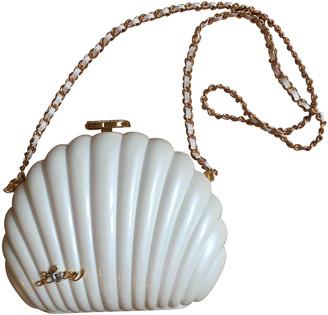 Chanel Pearl Bag Ecru Plastic Handbags