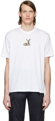 Burberry White Deer T-Shirt