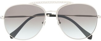 Miu Miu Aviator-Frame Sunglasses