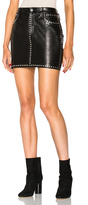 Frame Studded Mini Skirt in Black.