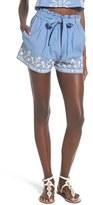 Tularosa Women's 'Kaya' Paperbag Waist Chambray Shorts