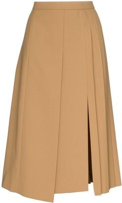 Joseph pleated wrap-around midi skirt