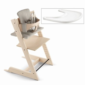 Stokke Tripp Trapp High Chair Complete Natural with Timeless Grey and Tray