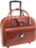 """McKlein McKleinUSA Edgebrook 15.4"""" Leather Wheeled Laptop Briefcase"""