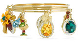 Dolce & Gabbana Gold-plated Swarovski crystal charm bracelet