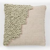 west elm Colorblock Woven Overlay Pillow Cover - Rosette