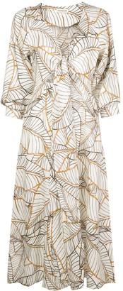 Nicholas Asilah Vintage Palm midi dress