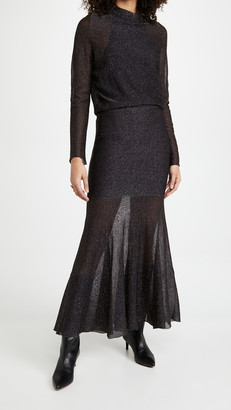 Victoria Beckham Long Sleeve Open Back Midi Dress