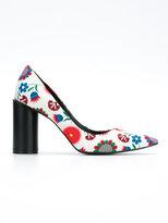 Reinaldo Lourenço - flower print pumps - women - Cotton - 35