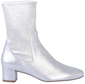 Stuart Weitzman Metallic Effect Heeled Ankle Boots