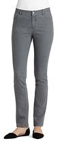 Lafayette 148 New York Bella Curvy Slim Leg Jeans in Rain