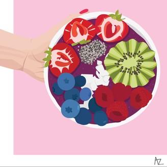Annette Zuozo Designs Acai Bowl Illustration