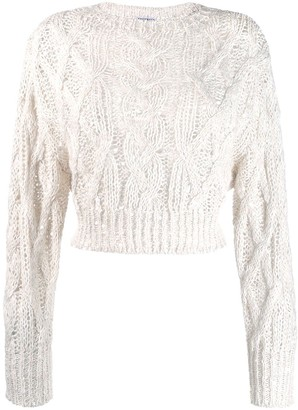 Brunello Cucinelli Cropped Open Knit Jumper