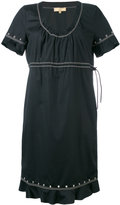 Fay studded trim contrast dress - women - Cotton/Spandex/Elastane - L