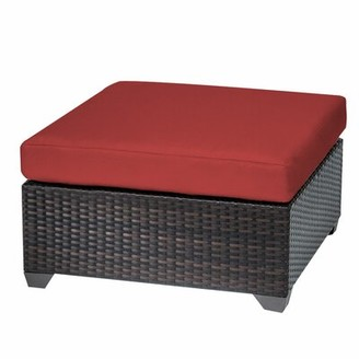 Sol 72 OutdoorTM Fernando Outdoor Ottoman with Cushion Sol 72 Outdoor Fabric: Terracotta
