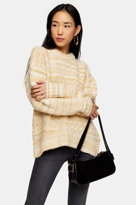 Topshop Lemon Tuck Stitch Knitted Sweater