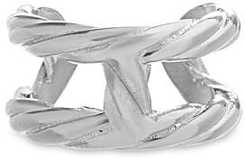 Bliss Women's Rings Silvertone - Stainless Steel Rope Cuff Ring