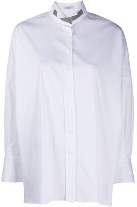 Brunello Cucinelli Plain Tuxedo Collar Shirt