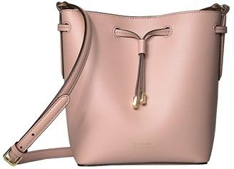 Lauren Ralph Lauren Dryden Debby II Mini Drawstring (Mellow Pink/Porcini) Handbags