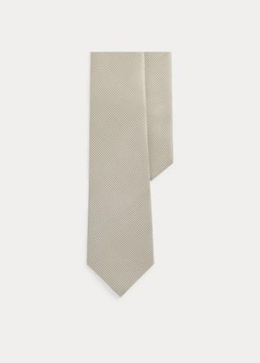 Ralph Lauren Pin Dot Silk Foulard Tie