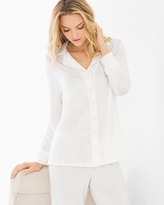 Soma Intimates Breathtaking Long Sleeve Pajama Top Ivory