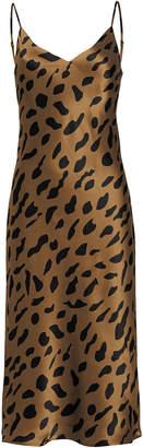 L'Agence Jodie Leopard Silk Slip Dress