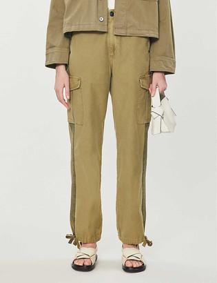 Rag & Bone Mid-rise straight-leg cotton trousers