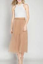 She + Sky Mesh Midi Skirt