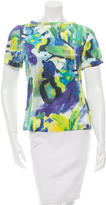 Kate Spade Abstract Print Short Sleeve Top