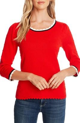 CeCe Scallop Neck Sweater