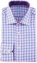 English Laundry Windowpane-Check Long-Sleeve Dress Shirt, Purple/Blue