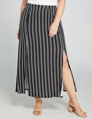 Lane Bryant Side-Slit Knit Maxi Skirt