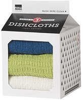 Now Designs Milk Carton Dishcloth, Sapphire/Cactus Green/White, Set of 3