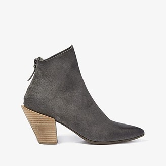 Marsèll Stack Heel Suede Boot (Grey/Natural) Women's Shoes