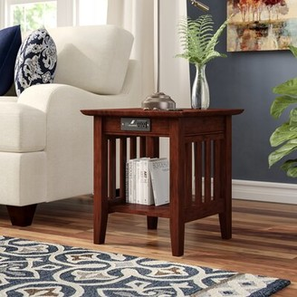 Three Posts Danube End Table Color: Walnut